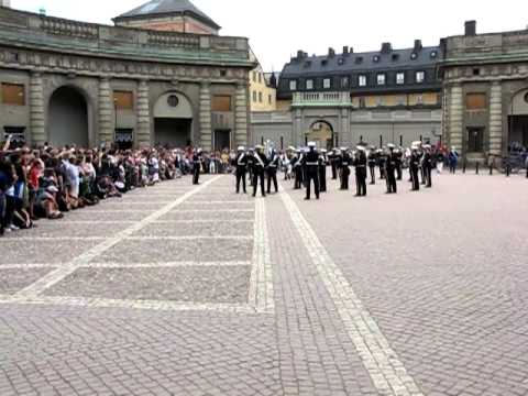 Guard-change ceremony at th Swedish royal palace, Stockholm