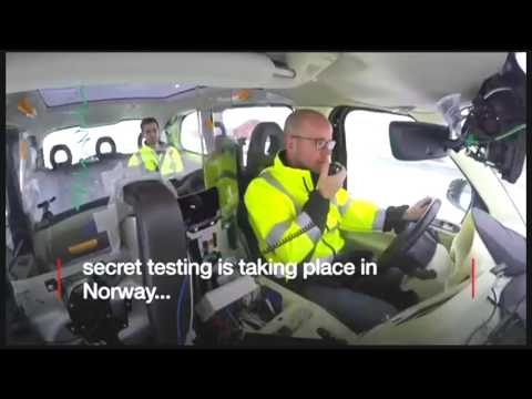 Why are black cabs being tested in the Arctic Circle?