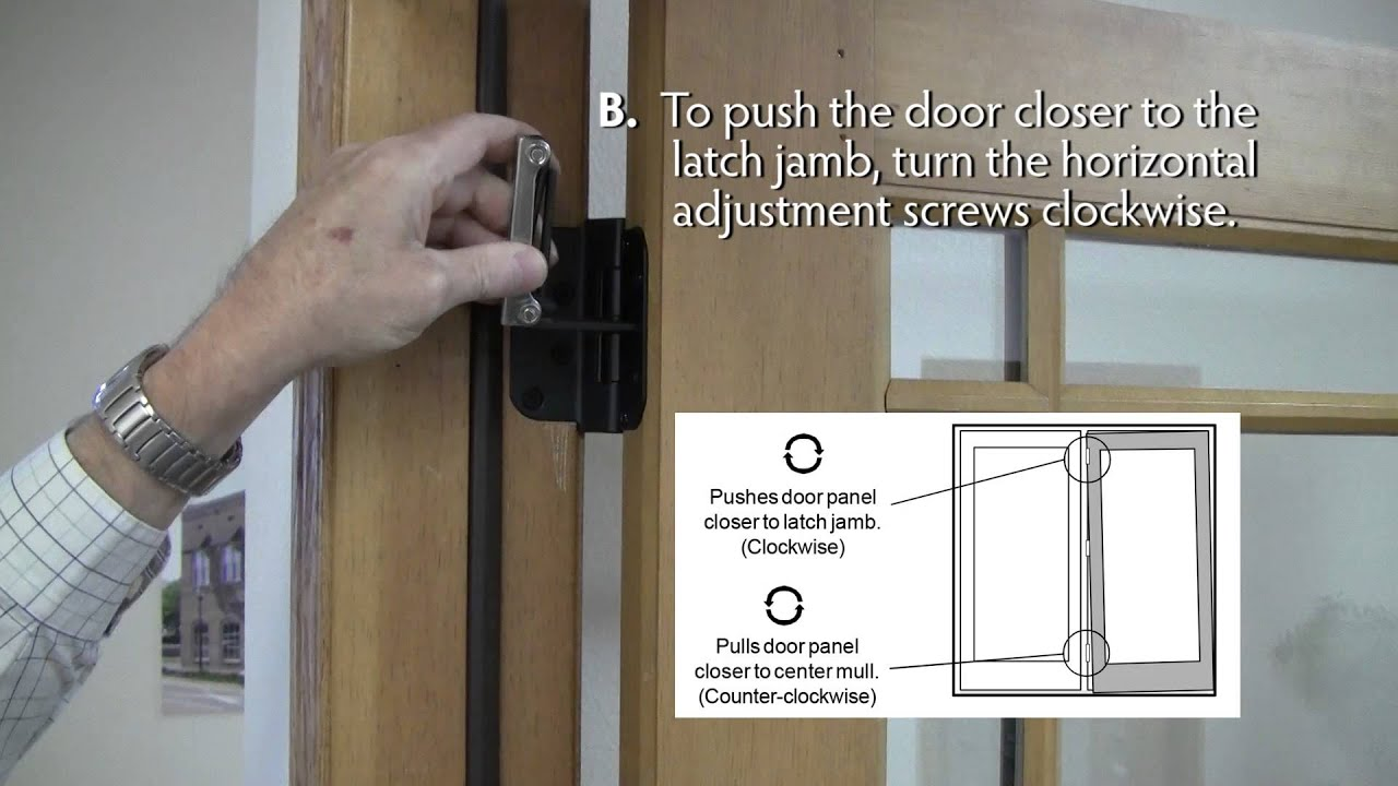 Swing Hinges How To Adjust Lincoln Swing Patio Door Hinges Youtube