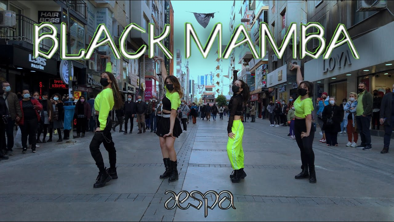 [KPOP IN PUBLIC TURKEY 'with mask'] [ONE TAKE] aespa 에스파 'Black Mamba' dance cover by 6æs Crew