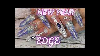 Winter Princess Diamond Edge Nails | How To Apply Huge Nail Art | Absolute Nails