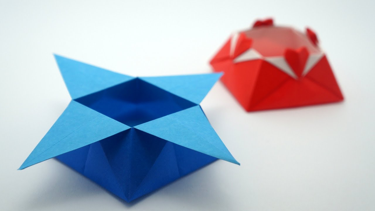 Papercraft Origami Star Box (traditional model)