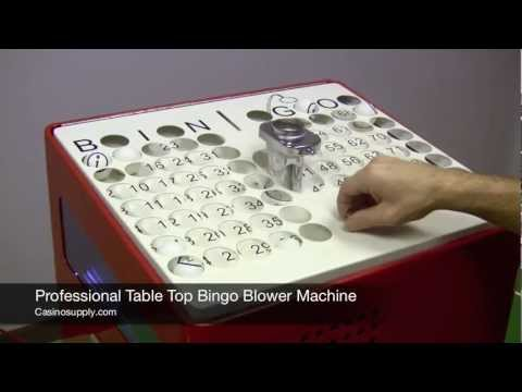 Professional Table Top Bingo Blower Machine