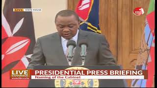 13 Cabinet Secretaries dropped as President names new cabinet