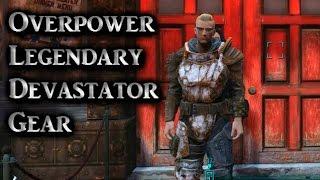 Fallout 4 ► Rare Legendary Devastator Gear Armor Piece Location - Overpower Armor Set