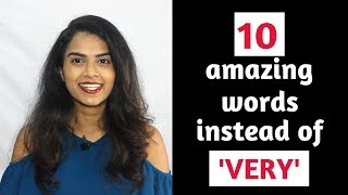10 Amazing English Words to use Instead of VERY | English Vocabulary