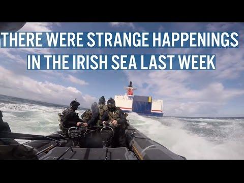 Irish Army Rangers Board Ferry In Irish Sea
