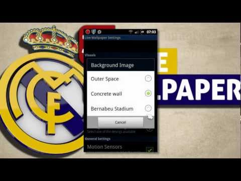 Real Madrid Android Live Wallpaper