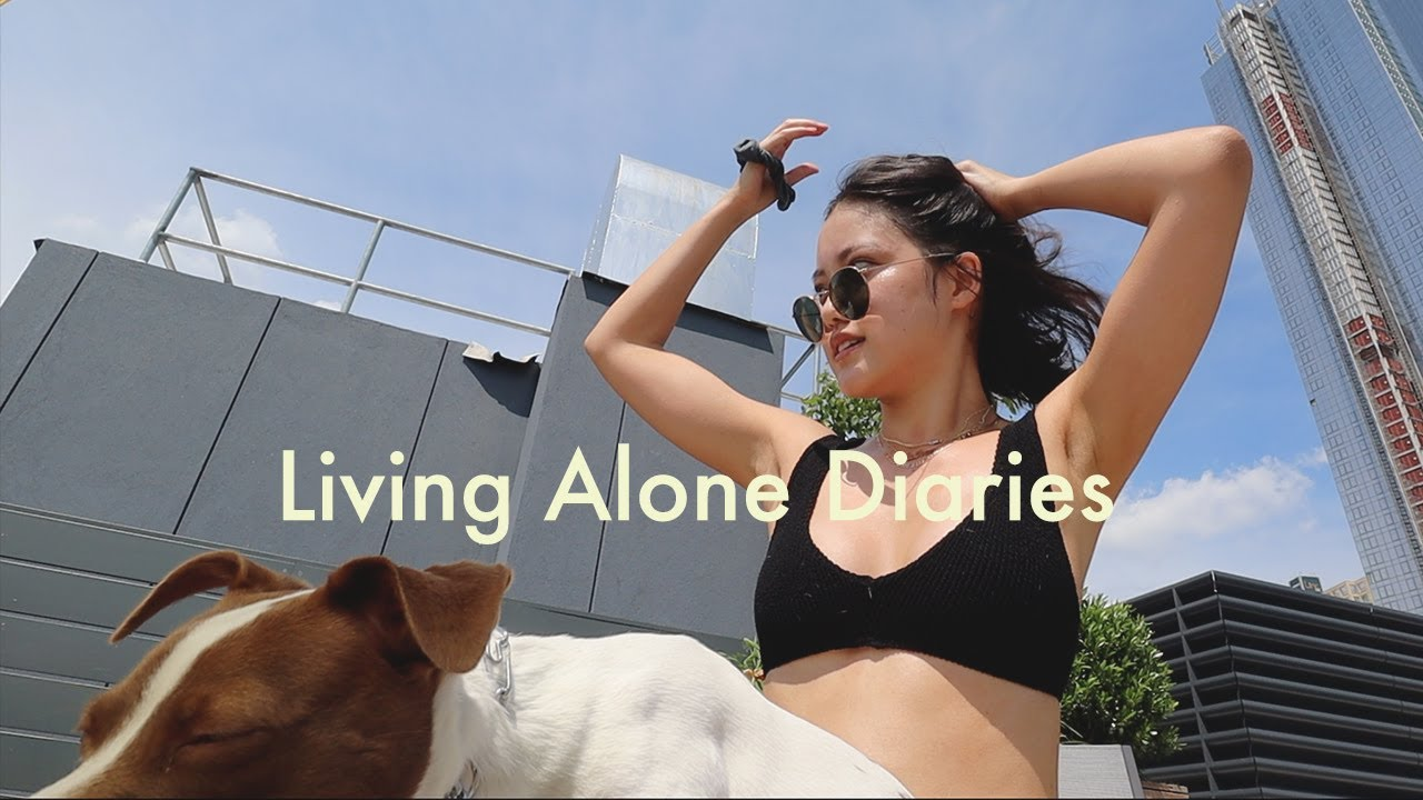 Living Alone Diaries | Rooftop tanning, girl talk about dating, New Hair, debloating my face...