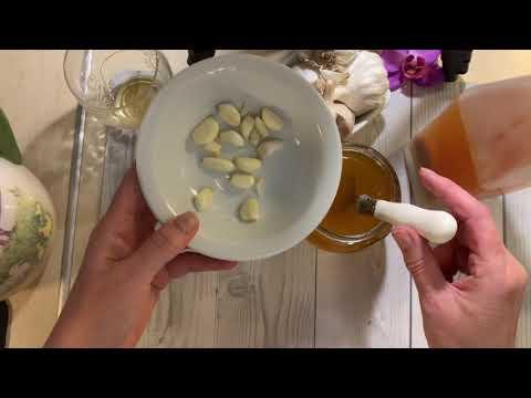 Лечебная настойка: мёд чеснок и яблочный уксус!От многих болезней !