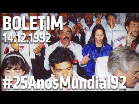 Todos os detalhes da comemoração do título! - Boletim 14.12.1992 #25AnosMundial92   SPFCTV