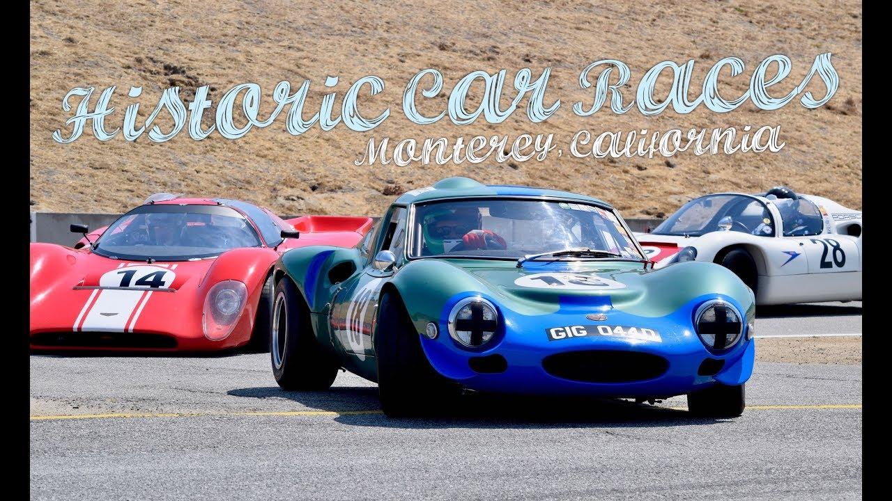 Historic Car Races in Monterey 🏁 Mazda Raceway Laguna Seca - YouTube