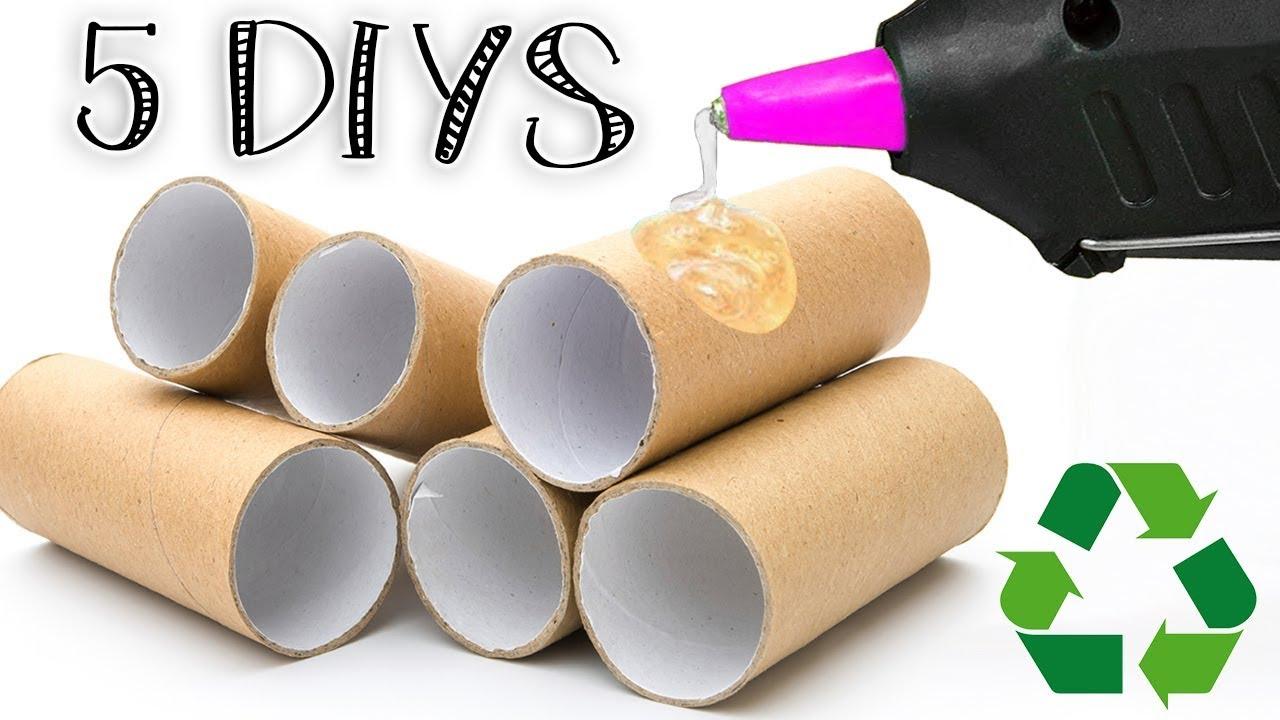 5 diys o manualidades reciclando rollos de papel higi nico - Manualidades con rollos de papel higienico para navidad ...