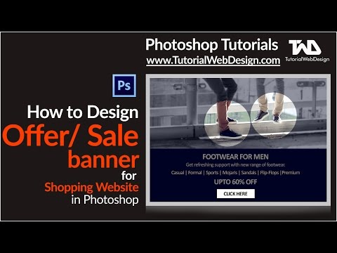 How to design Offer and Sale banner for shopping website in Photoshop