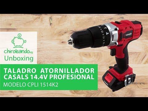 Taladro Atornillador Casals Profesional 14.4v Modelo CPLI 1514K2 / Chiroleando.uy
