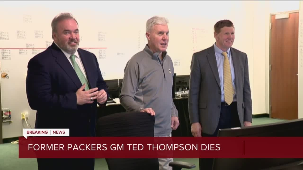 Former Packers GM Ted Thompson dies at 68