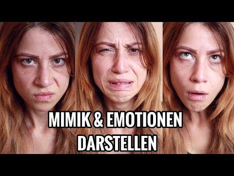 MIMIK & Emotionen darstellen- Gesichtsausdruck & Schauspiel Übung- Schauspieler werden