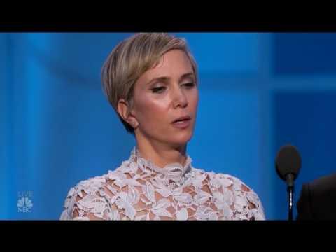 Steve Carell And Kristen Wiig  Funny  The Golden Globes 2017