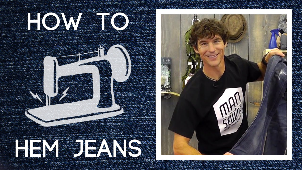 how to hem pants easy sewing tutorial with rob appell of man sewing youtube. Black Bedroom Furniture Sets. Home Design Ideas