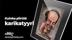 Kuinka piirtää karikatyyri | How to draw caricature | Janne Markkanen