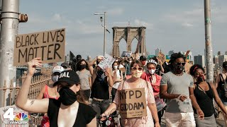 NYC Protests: Demonstrators March Over the Brooklyn Bridge   NBC New York