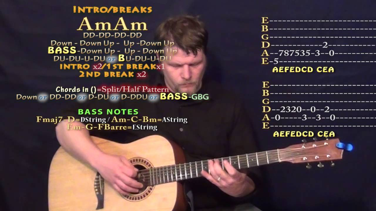 All Day Kanye West Guitar Lesson Chord Chart Youtube