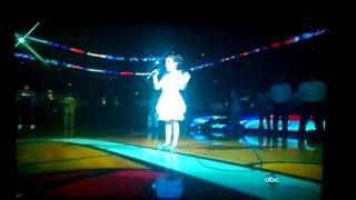 Julia Dale, 10-year-oid, Sings National Anthem At Nba Finals