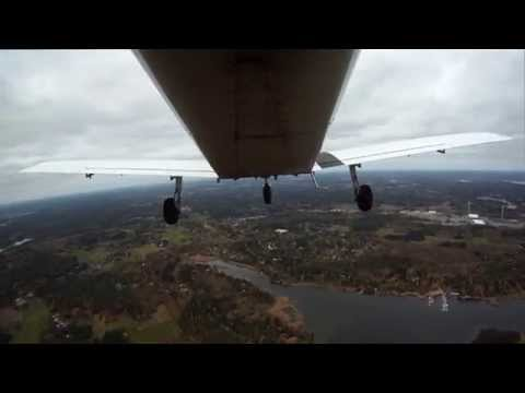 Flying in city of Kotka and Hamina Finland