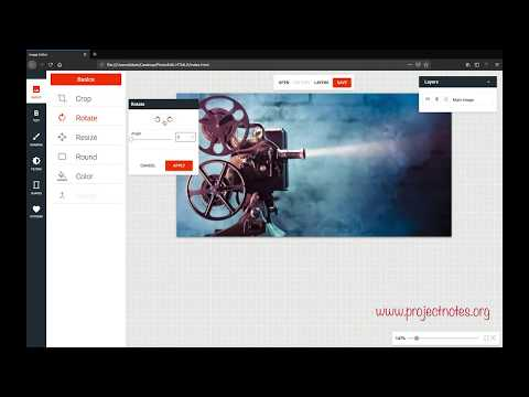 Photo Editing Application In HTML5 And Javascript || ProjectNotes
