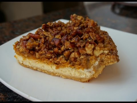 Holiday Pie | Cheesecake Sweet Potato Pecan Pie | Or Pumpkin