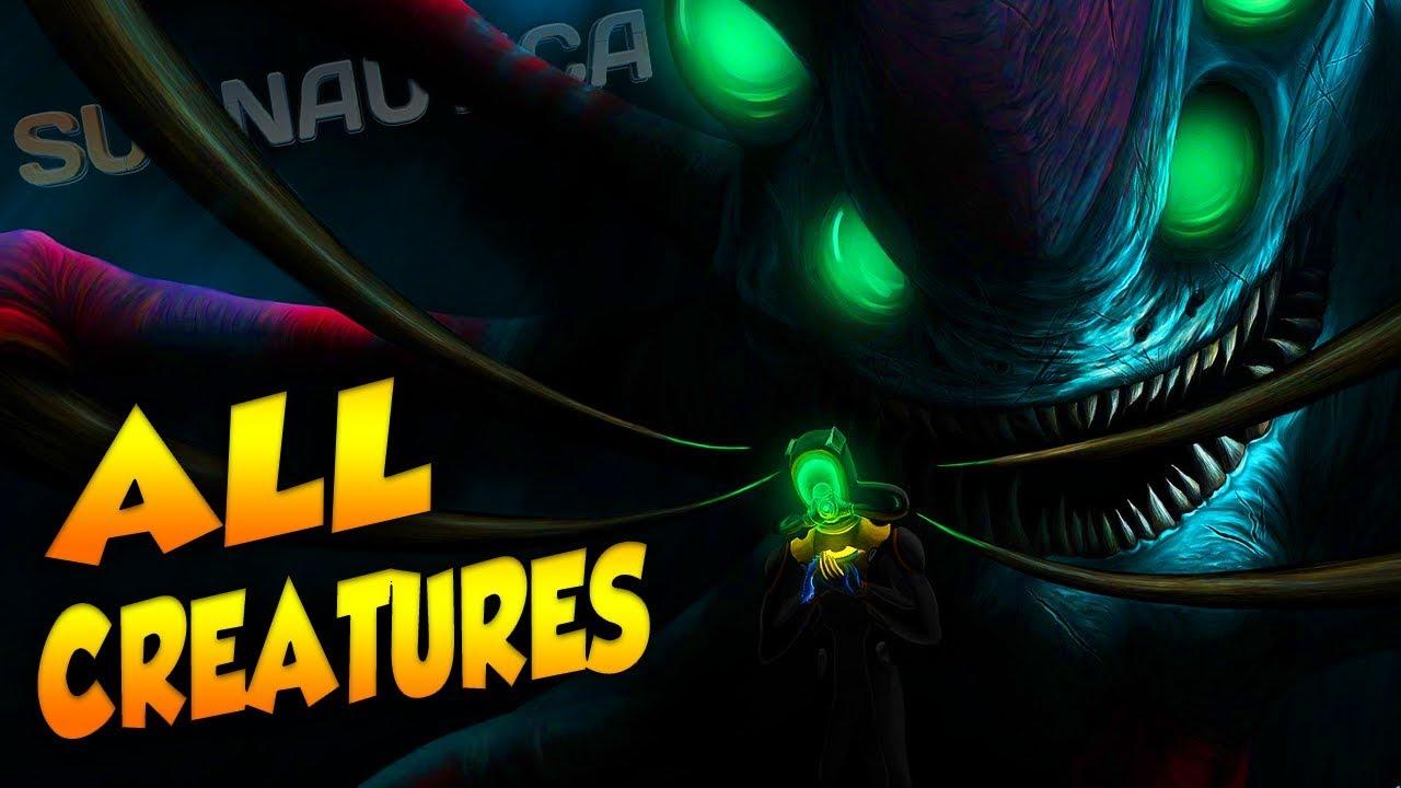 ALL CREATURES IN SUBNAUTICA (NEW 2018 - V1) | Subnautica