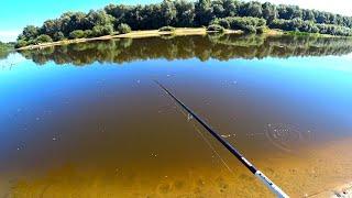 В жару тоже клюёт! Рыбалка на реке в конце лета! Ловля судака и щуки на джиг!
