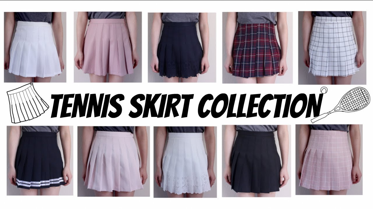 my tennis skirt collection - youtube