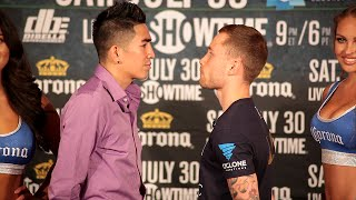 Leo Santa Cruz vs. Carl Frampton COMPLETE Face Off video- Final Press Conference