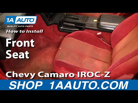 How To Remove Front Seats 82-92 Chevy Camaro IROC-Z
