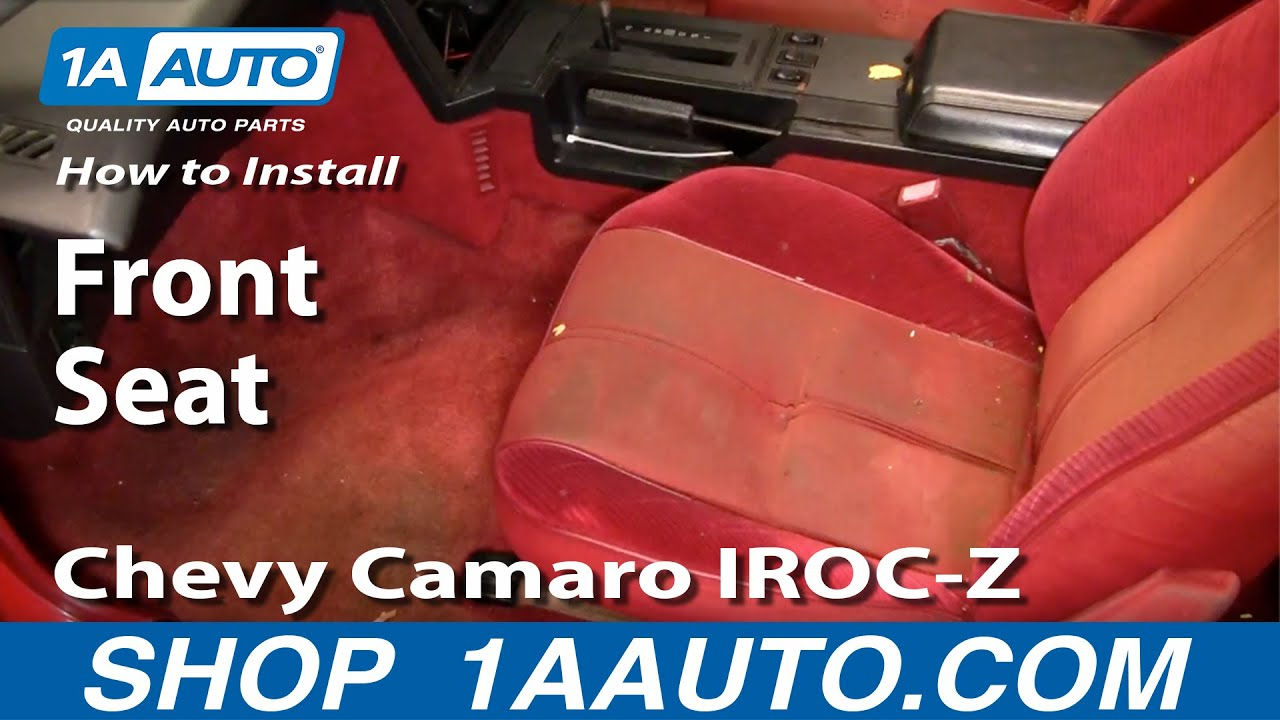 How To Install Remove Front Seats 82 92 Chevy Camaro Iroc Z Pontiac Firebird V6 Car Engine Diagram And Trans Am 1aautocom