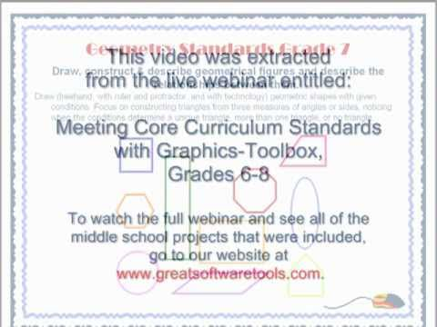 Geometry Triangles - Meeting Core Standards With Graphics Toolbox Grades 6-8
