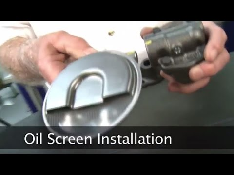 how to install oil pump screen