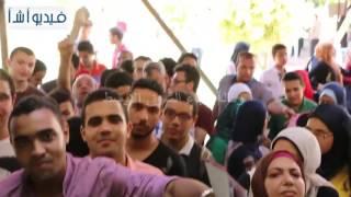 بالفيديو: طلاب جامعة القاهرة يتوافدون لتسليم استمارات اختبار القدرات