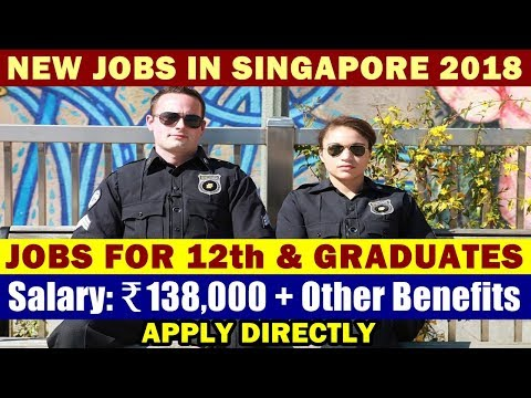 Jobs In Singapore: In-House Security Officer / Security Guard   Night Shift   Good Salary + Benefits