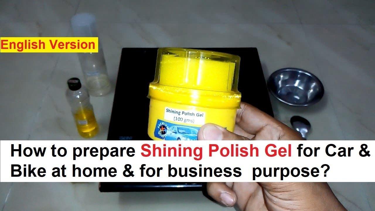 Car Shining Polish Gel Making 100% Real Formula