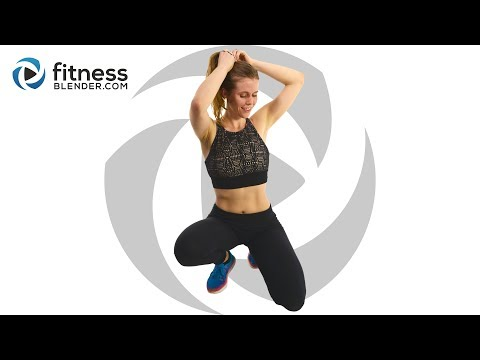 Fat Burning HIIT Cardio Workout With No Equipment (Advanced And Low Impact Modifications)