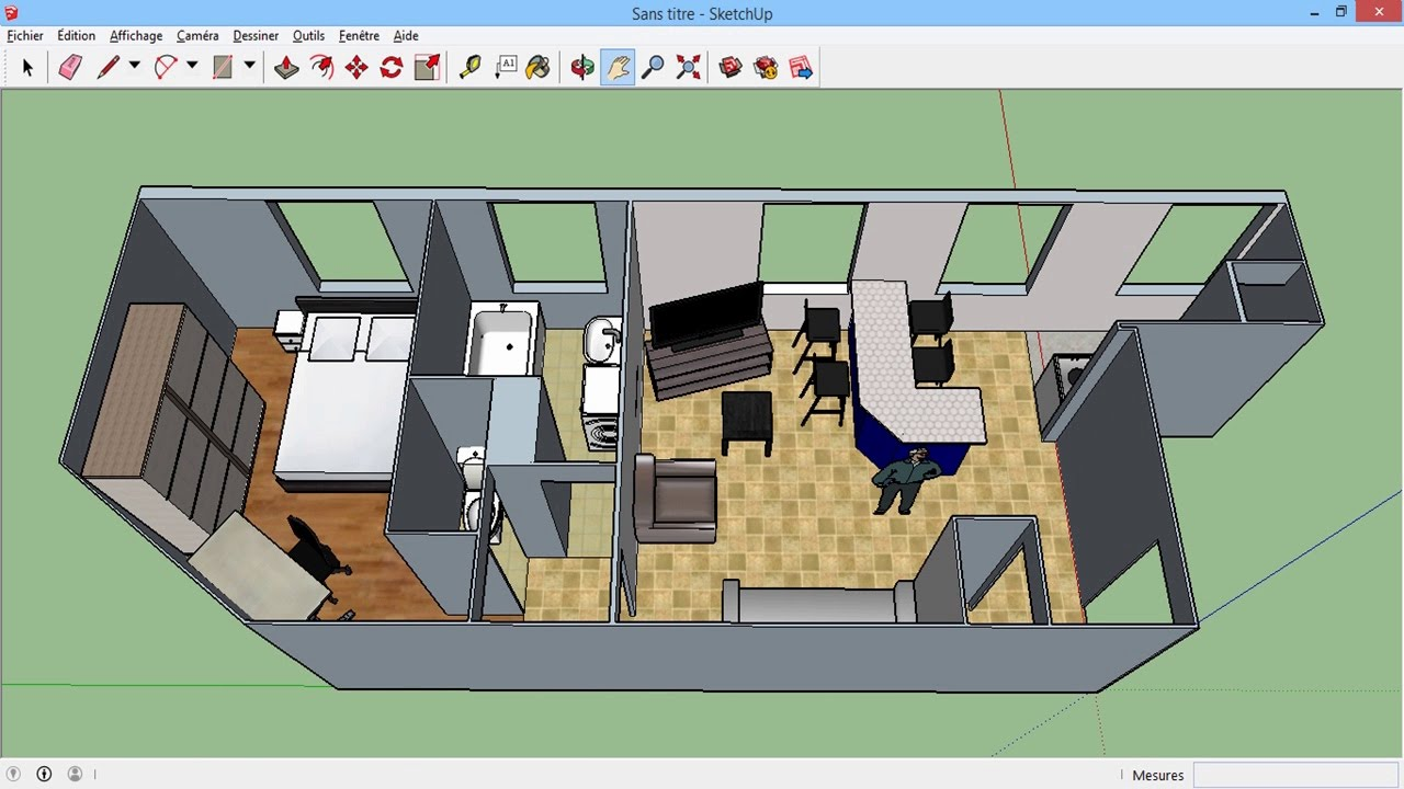 Mod liser un plan en 3d maison appart autre sketchup for Plans en 3d