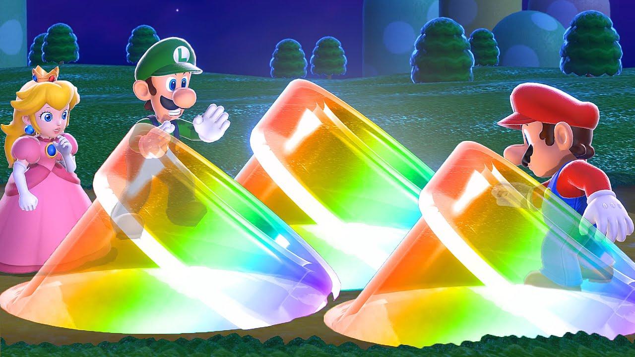 Super Mario 3D World - 3 Player Co-Op - World 1 + World 2 4K60FPS