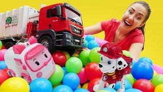 Видео про игрушечные машинки для детей. Веселая Школа приглашает Мусоровоз!