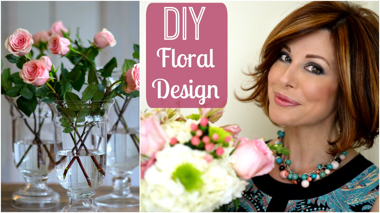 How I Create Floral Arrangements For My Home Youtube