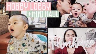 Vlog #179   ETHAN NYANYI, NGINTIP ISI HOBBY LOBBY, MINI HAUL!