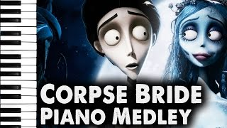 Repeat youtube video Corpse Bride: Piano Duet, Victor's Piano Solo ~Medley~
