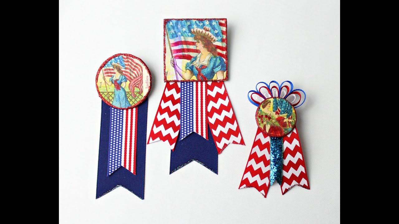 Make Patriotic Ribbon Badges