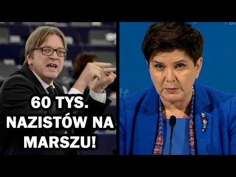 """Premier Beata Szydło koncertowo zgasiła 60 tys. """"nazistów"""" Verhofstada na Marszu Niepodległości"""